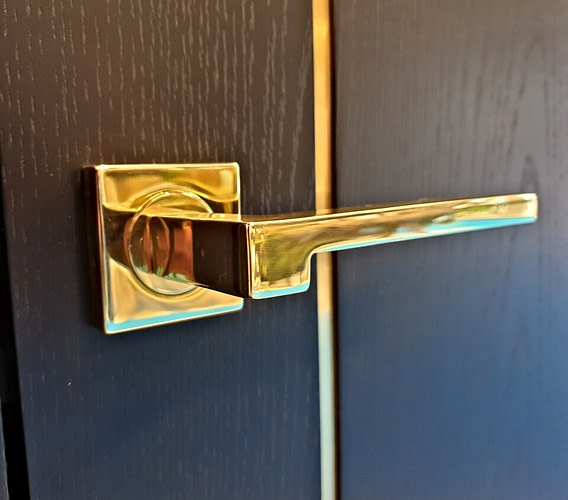 Doors with Brass-Finished Inlays