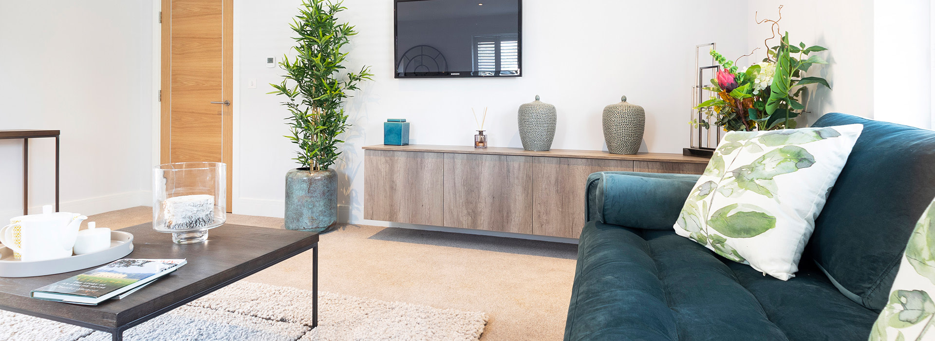 Modern interior with plants
