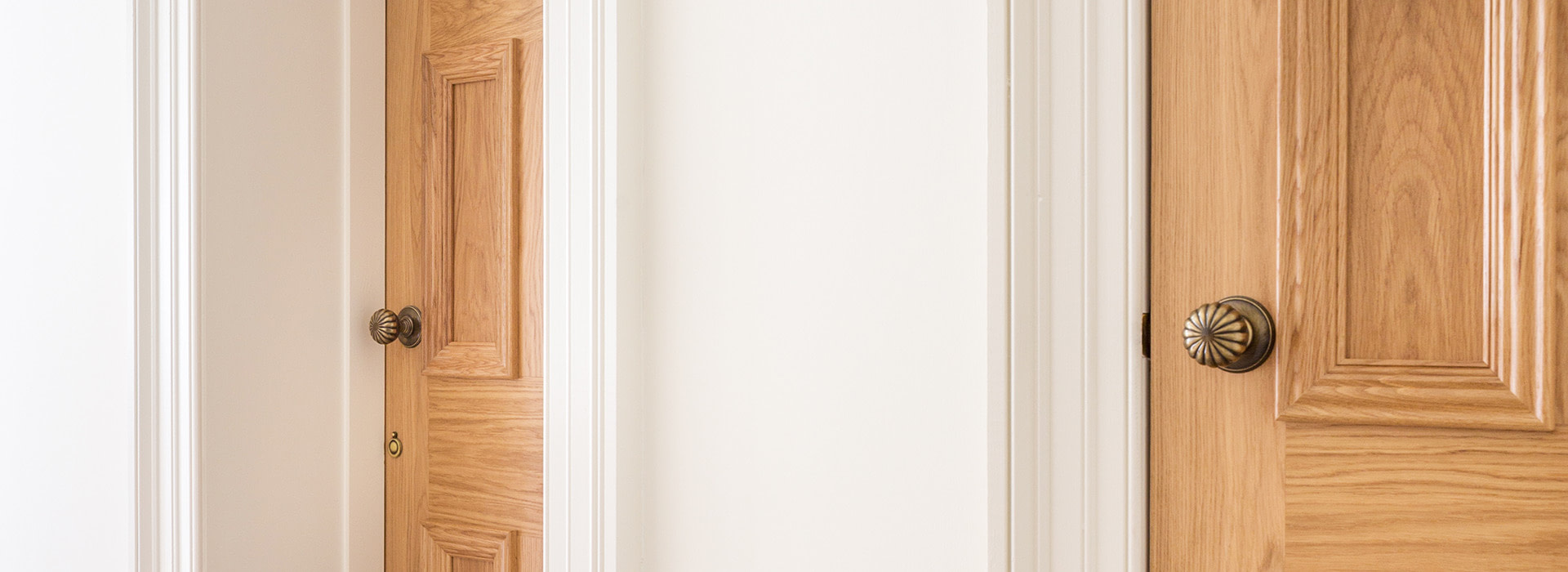 Large victorian architrave and oak doors