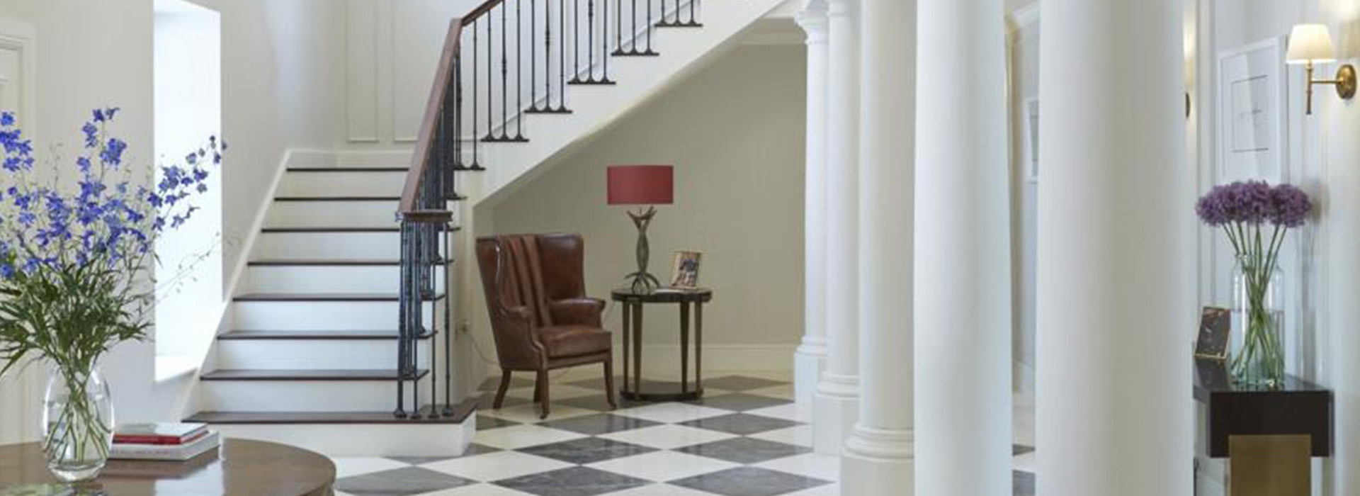 Double height entrance hall
